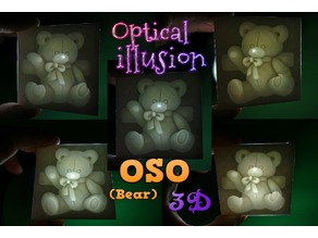 OSO 3D ILUSIÓN OPTICA  (optical illusion)