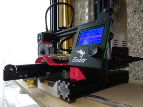 Ender-3 vertical LCD screen mount on frame