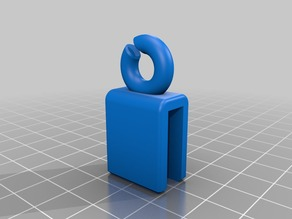 """Filament Guide for Prusa i3 with 6.5mm (1/4"""") aluminum frame with filament behind printer"""