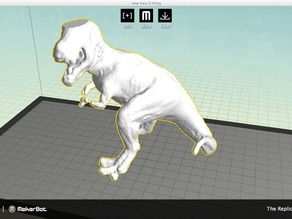 T Rex  Scanned with the MakerBot Digitizer Desktop 3D Scanner