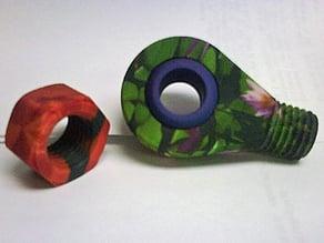 Colour Threaded Ball Joint w/ Nut