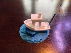 3D Benchy Wave/Stand/Base