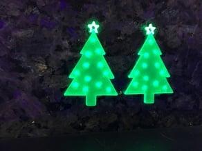 Christmas Tree Earrings UV