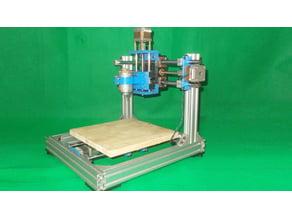 007-Homemade CNC Router Mill Laser Plotter 3D Printer Machine DIY Z Axis Slide Bed Base