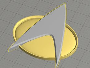 Dual Extrusion Star Trek Comm Badge