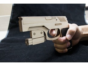 Rubber Band Gun with Laser Red dots