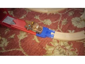 Conector for Pixar Cars playset track / Brio wooden track