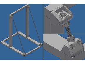 "CR-10 Frame Stiffener Brace (5/16"" Allthread) USA"