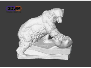 Polar Bear Sculpture (3D Scan)