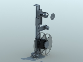 Filament spool holder and guide