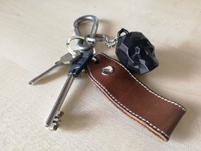 Low Poly Skull Keychain