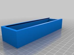 Sliding lid pencil box with magnets