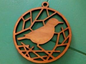 Bird Ornament / Medallion (laser cutter version)