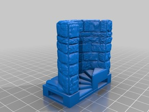 OpenForge 2.0 Spiral Stair with Wall (ORIG) OpenLock Base