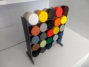 Hobby Paint Rack for 10 ml miniature bootles