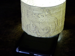 Little Mermaid 360 lithophane