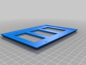 Triple Designer Rocker Switch Wall Plate