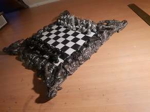 Dragon cliff chess board - magnetic slot squares