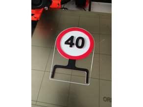 40 - Speed Limit Birthday Sign