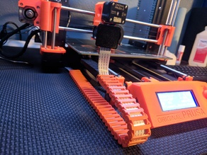 Pi camera mount and drag chain for Prusa MK2S