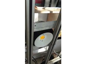 Reflector for Bridgelux Vero29 SE on a 160mm pin heat sink