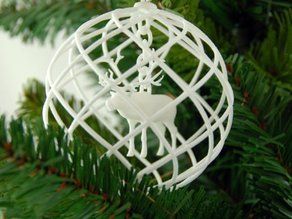 Rudolph 3D printed in a Christmas Decoration