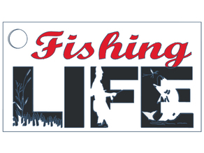 Fishing Life Keychain