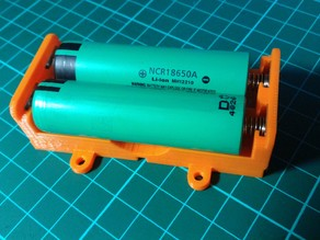 Battery box for 18650 & AA cells