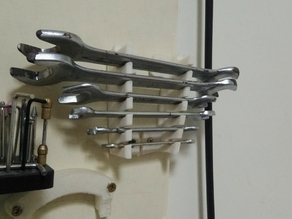 Wrench holder for walls