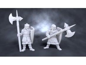 Medieval Halberdiers with Shields
