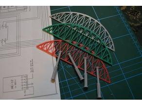 Model Railway Station Canopy & Bridge