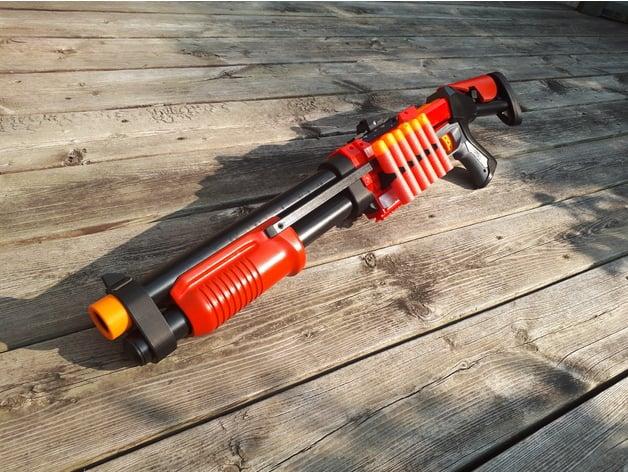 Nerf Magnus shotgun parts by ehdrien - Thingiverse