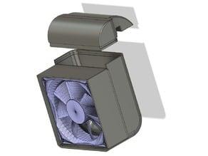 Aquarium Cooler 80mm Fan Mount For 5mm Glass