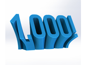 1,000! - Perspective Number Print/Follower Thank You
