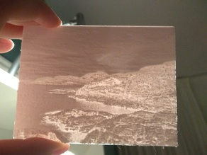 Scottish landscape lithophane