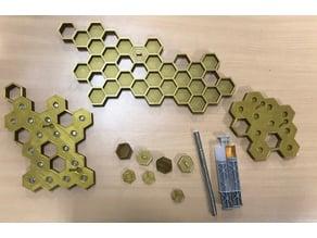 Honeycomb Keychain - Honigwaben Schlüsselanhänger