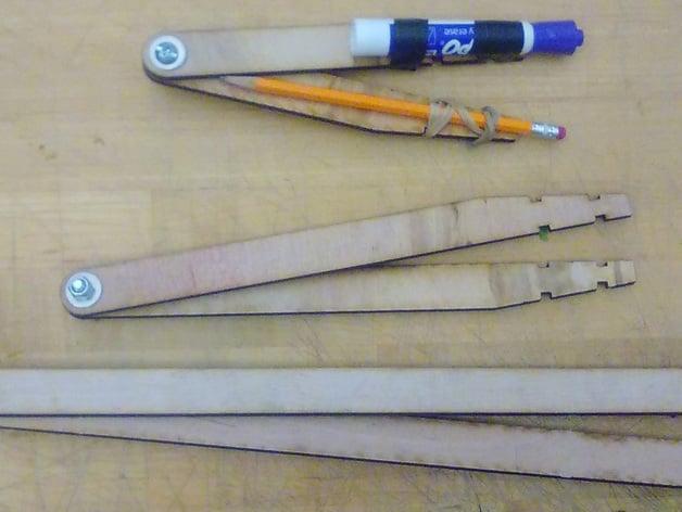 Large Lasercut Compasses For Drawing Circles By Bobbyzacharias Thingiverse