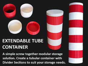 Extendable Modular Tube Container