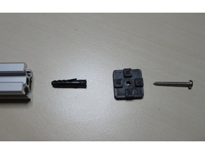2020 Extrusion End Cap with screw hole