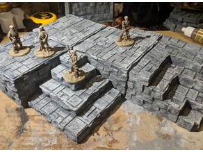 Fantasy Wargame Terrain - Temple/Dias Blocks