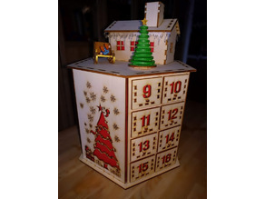 Hexagonal Advent Calendar / Small Parts Organizer  (Laser Cut)
