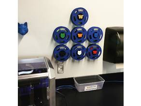 Filament Spool Storage Rack (Wall Mounted)