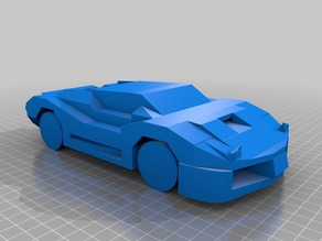 Low Poly Car (Flip Up Headlights)
