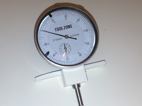Flashforge bracket to hold dial gauge for accurate setup