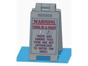 Warning Sign Shelf