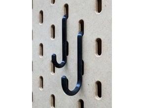 Hooks for Ikea Skadis pegboard