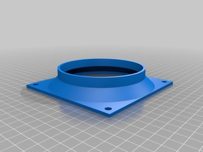 Parametric square fan to pipe adapter / shroud