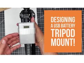 USB Power-Bank to Tripod Mount!