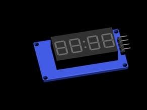 7 Segment Display (4 Digit Display v1.0)  FOOTPRINT layout