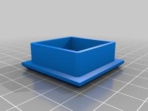 "1.5""-1/8"" wall square tubing cap (FRC)"